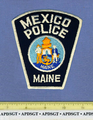 MEXICO (Old Vintage) MAINE Sheriff Police Patch CHEESECLOTH STATE SEAL