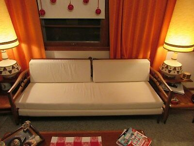 Mid Century Modern Sofa/Daybed Convertible NEW FOAM AND UPHOLSTERY!