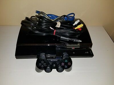 Playstation 3 PS3 Fat Backwards Compatible PS2 PS1 CECHE01 80GB Rare OFW 4.41