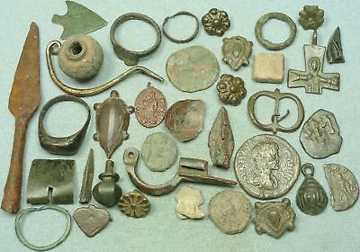 Lot Of Misc. Ancient Bronze / Iron / Lead Artifacts