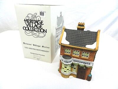 Dept 56 Dickens Village Geo Weeton Watchmaker RETIRED Holiday Christmas #5926-9