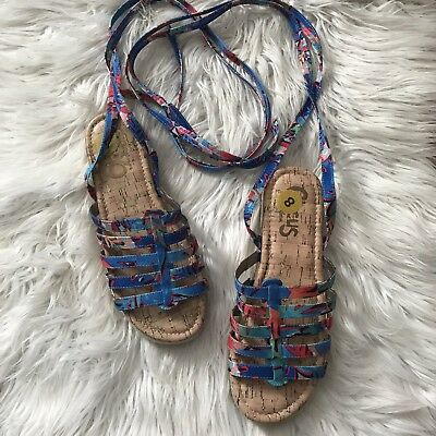 9169eb89f Circus By Sam Edelman Sz 8 Womens Colorful Ariel Espadrille Tie Up Sandals  Shoes