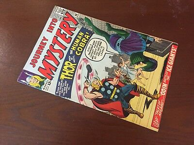 Journey into Mystery #98 - GORGEOUS HIGHER GRADE - 1st Human Cobra - Thor