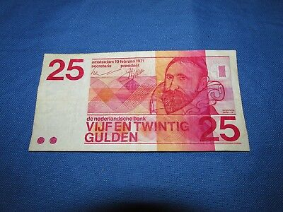Netherlands 25  gulden 1971 Jan Pietersz Sweelinck NOTE