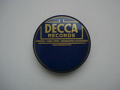 1930's  Blue Decca  Records Phonograph Record Duster Cleaner Brush