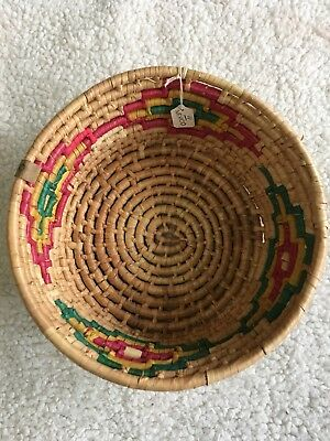New Southwestern Deep Basket Wall Hanging Navajo Decor Native American