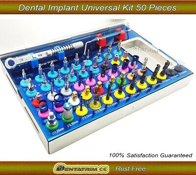 50 Pcs Dental Implant Universal Conical Bone Expander Saw Trephine Drills Kit CE