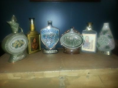 decanters...collection of jim beam vintage decanters