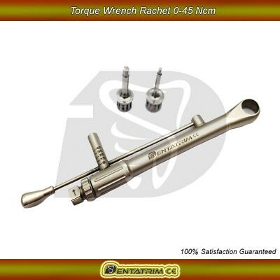 Dental Implant For Straumann Torque Wrench Ratchet Instrument 0-45 NCM & Drivers
