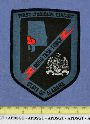 FIRST JUDICIAL CIRCUIT DRUG TASK FORCE ALABAMA Court Police Patch SUBDUED