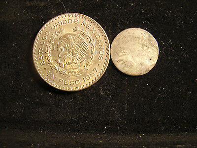 2 coins from Mexico, as pictured.