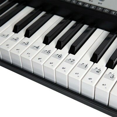 88/61/54 Electronic Keyboard Key Sticker Transparent Fit Piano Keyboard