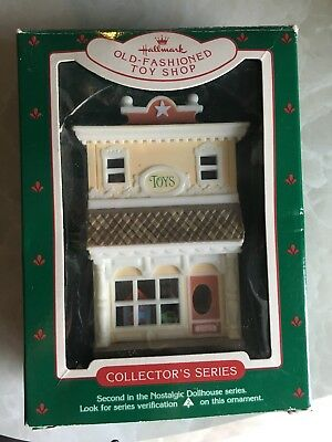Hallmark 1985 Old Fashion Toy Shop Xmas Tree Ornament 2Nd In The  Series