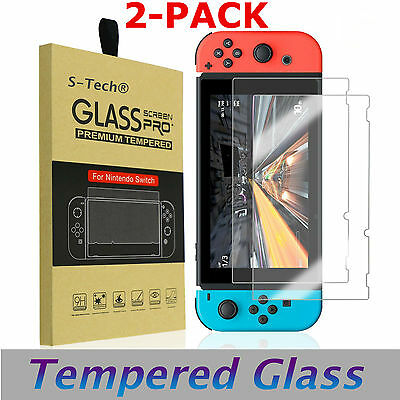 1/2X Premium Tempered Glass Screen Protector Guard Shield For Nintendo Switch BF