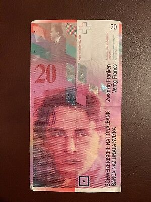 Switzerland 20 Francs Banknote, Circulated