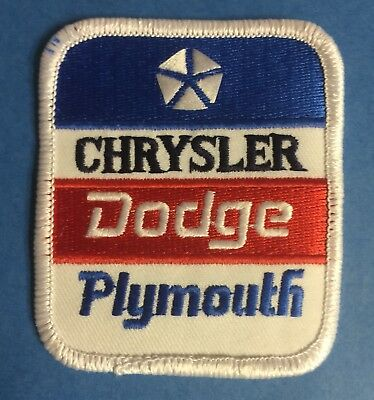 Rare Chrysler Dodge Plymouth Car Auto Club Iron On Jacket Farmer Hat Patch Crest