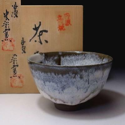 EP8: Vintage Japanese pottery tea bowl, Tanba Ware with Signed wooden box