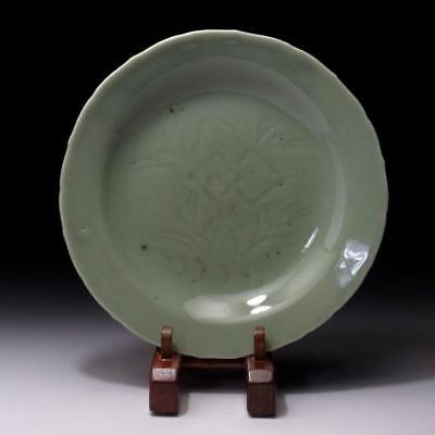 FA6: Antique Japanese Celadon Tea Plate of Old Kyo ware, 19C