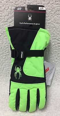 New! $45 SPYDER KYD'S PERFORMANCE WP Insulated Ski & Snowboard Gloves / Youth L