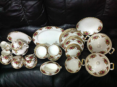 Royal Albert Old Country Roses Dinner,tea & Soup Coups Service For Six People