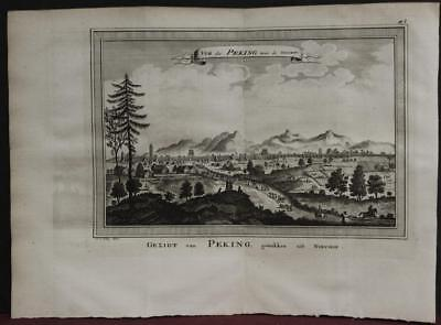 Beijing China 1757 Bellin/van Schley Rare Antique Original Copper Engraved View