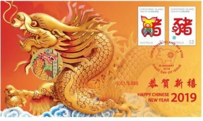 2019 CHINESE NEW YEAR PNC Stamp & Coin Cover