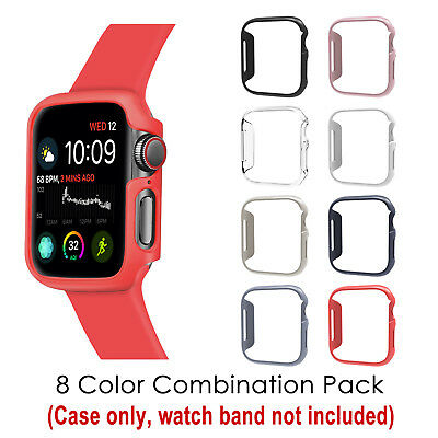 [8 Color Pack] for Apple Watch 4 Case 44mm 2018 iWatch Series 4 Slim Hard Cover
