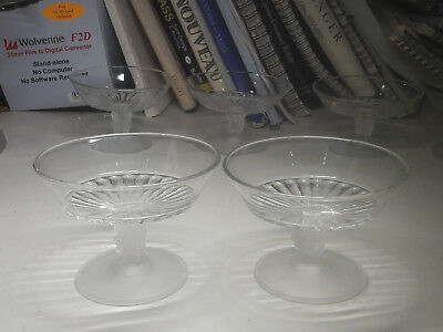 """Vintage """"after George Duncan #400"""" """"three Face"""" -Two 3 1/4"""" Sherbet Glasses"""
