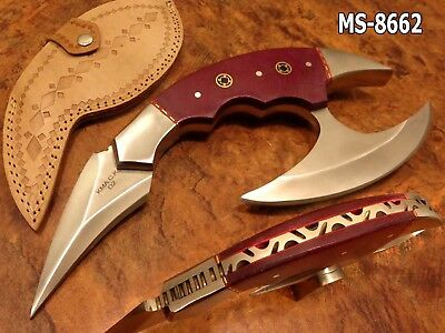 "9.0""kma Cutlery Custom D2 Tool Steel Full Tang Alien Hunter Knife Ms-8662"