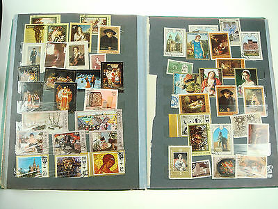 Large Album Book Of Mixed Stamps from All Over The World 20 pages  Nr 4539