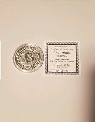 Rare Bitcoin Anonymous Mint Owl Commemorative 1 Oz Silver Proof Round With Coa