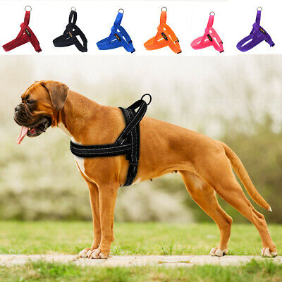 Pet Vest Quick Fit No Pull Front Clip Dog Harness Reflective Plush Padded XS-L