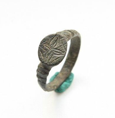 Ancient Old Bronze Ring Floral Type (SEP26)