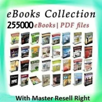 255000 eBooks Package Collection | Pdf Format | w/ M Resell Rights Free shipping