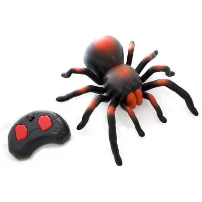 New Remote Control Soft Scary Plush Creepy Spider Infrared Rc Tarantula Kid Gift Toy Gift For Fast Shipping Electronic Pets