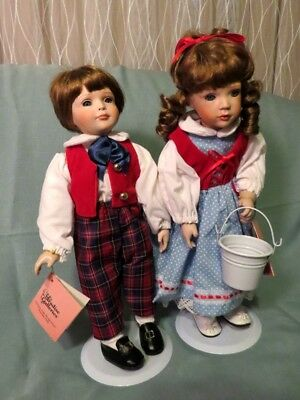 Jack and Jill a pair of musical porcelain dolls by Paradise Galleries