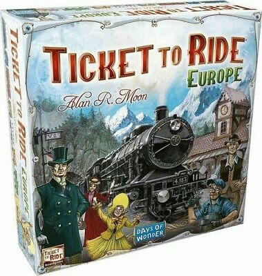 Ticket to Ride Europe Board Game Party Game