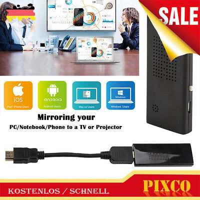 Miracast WiFi HDMI HD 1080P Dongle Stick TV für Android/IOS AH293 Schwarz DE