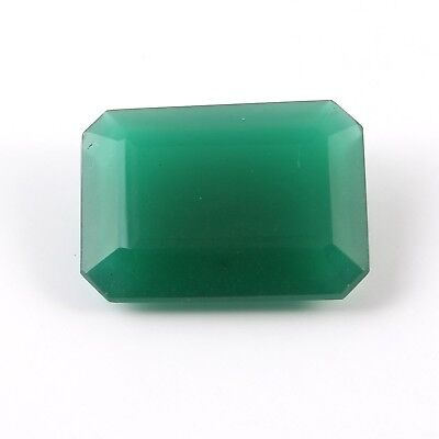 27.30 Cts Green Octagon Man Mad Glass Loose Gemstone Faceted Free Size
