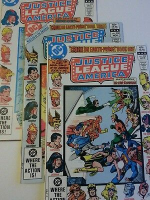 Justice league of America 207,208,209 Masters of the universe  DC comics 1982