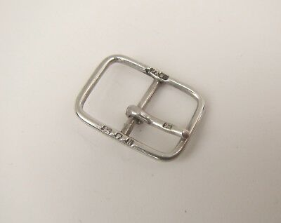 Old Solid Silver Small Buckle - Hallmarked London 1925