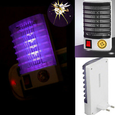 LED Socket Electric Mosquito Fly Bug Insect Trap Killer Night Lamp Lights