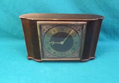 Vintage Smiths Wind-Up Mantle Clock with Brass Face. Not working.  (Hospiscare)
