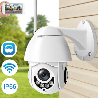 Wireless 1080P HD 5X Optical PTZ Camera Wifi Waterproof Security TF Slot Outdoor