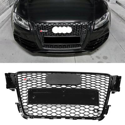 For 2008-2012 AUDI A5/S5 B8 RS5 STYLE EURO HONEYCOMB HEX MESH GRILLE GLOSS BLACK