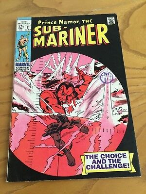 Prince Namor The Sub-Mariner  #11. March 1969.
