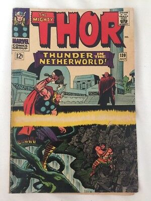 THE MIGHTY THOR #130. MARVEL COMICS 1966. THOR AND HERCULES vs PLUTO