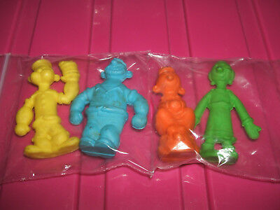 VINTAGE 1980s DIENER POPEYE CHARACTER ERASERS RUBBERS - COMBINED POSTAGE