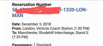 coach ticket london to Manchester
