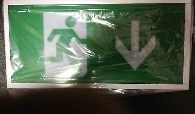 2x LED EXIT BOX EMERGENCY LIGHTING IP20 MAINTAINED EXIT SIGN 2W